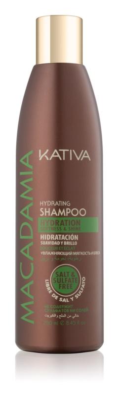 Kativa Macadamia shampoo idratante per capelli brillanti e morbidi