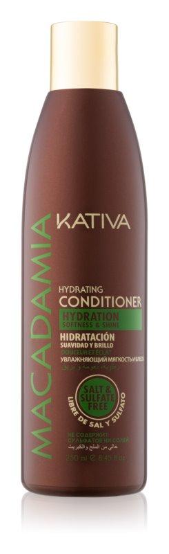 Kativa KATIVA Macadamia hydratační kondicionér pro lesk a hebkost vlasů