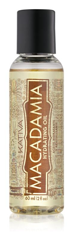 Kativa KATIVA Macadamia hydratačný olej na lesk a hebkosť vlasov