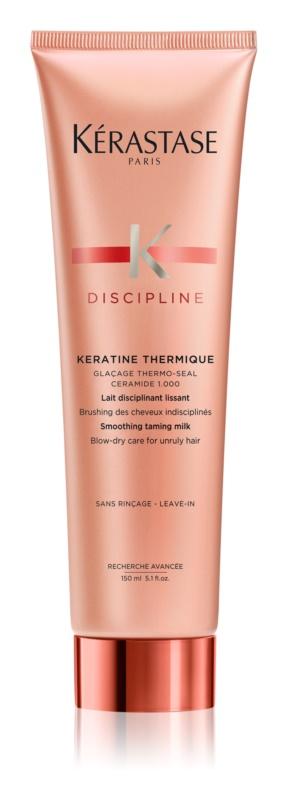 Kérastase Discipline Keratine Thermique termovédő tej a rakoncátlan és töredezett hajra