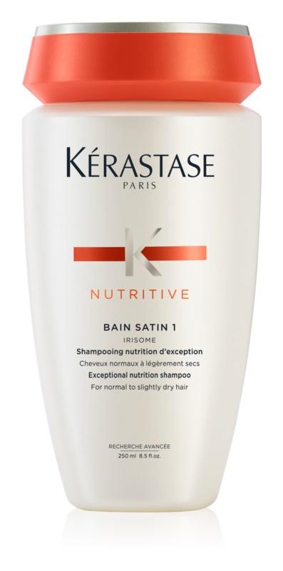 Kérastase Nutritive Bain Satin 1 shampoing bain prolongateur de couleur et brillance pour cheveux normaux à cheveux colorés légèrement sensibilisés