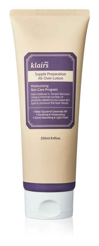 Klairs Supple Preparation Deep Moisturizing Body Lotion For Dry Skin