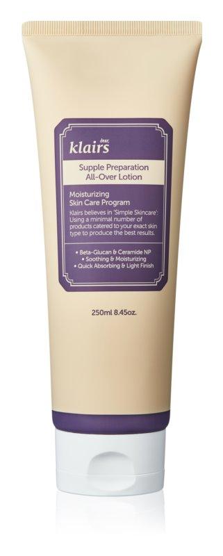 Klairs Supple Preparation hĺbkovo hydratačné telové mlieko pre suchú pokožku