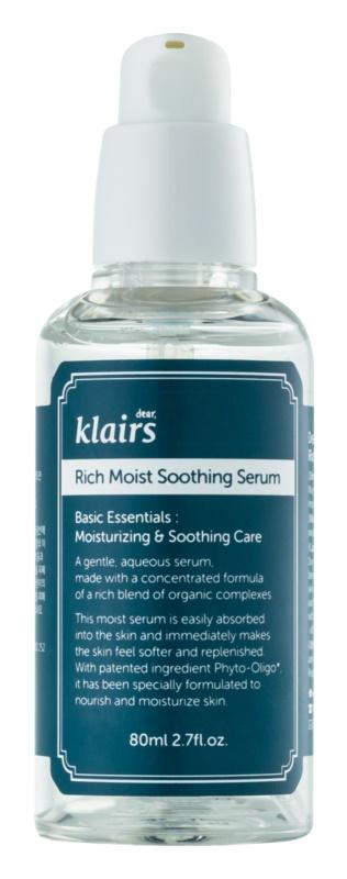 Klairs Rich Moist upokojujúce pleťové sérum s hydratačným účinkom