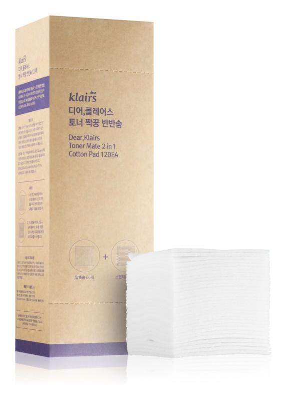 Klairs Supple Preparation Bavlnené tampóny na odlíčenie a čistenie pleti