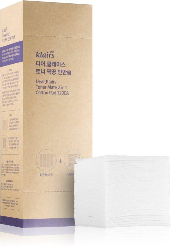 Klairs Supple Preparation Bombažne blazinice za odstranjevanje ličil in čiščenje obraza