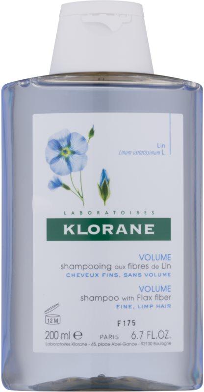 Klorane Flax Fiber šampon pro jemné a zplihlé vlasy