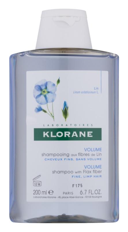 Klorane Flax Fiber szampon do włosów cienkich i delikatnych