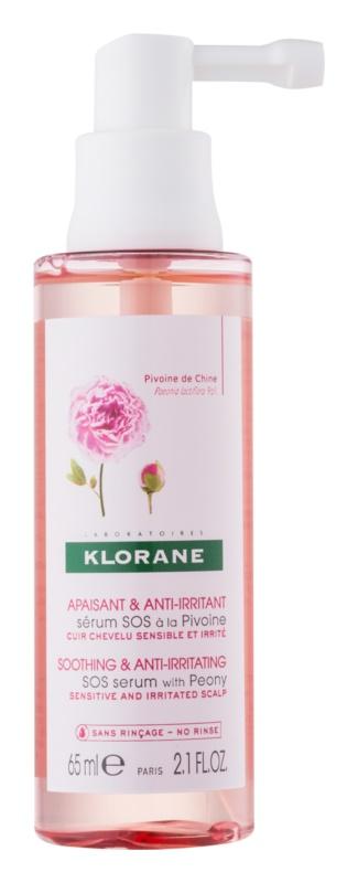 Klorane Peony pomirjevalni serum za pomirjanje občutljivega in razdraženega lasišča
