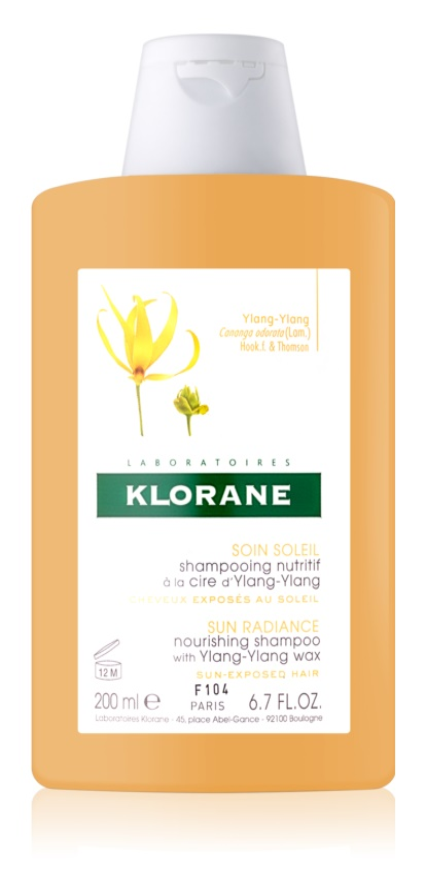 Klorane Ylang-Ylang shampoo nutriente intenso per capelli affaticati dal sole