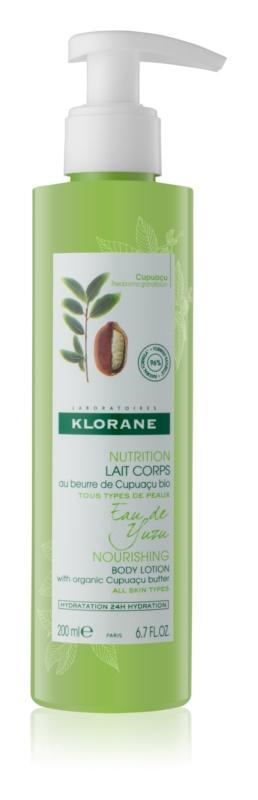 Klorane Cupuaçu Eau de Yuzu ľahké hydratačné a vyživujúce telové mlieko