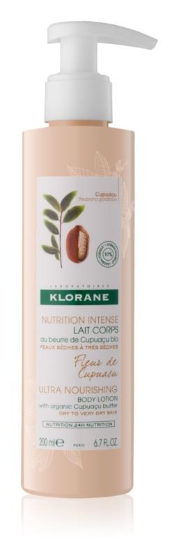 Klorane Cupuaçu Fleur de Cupuacu lapte de corp intens hrănitor