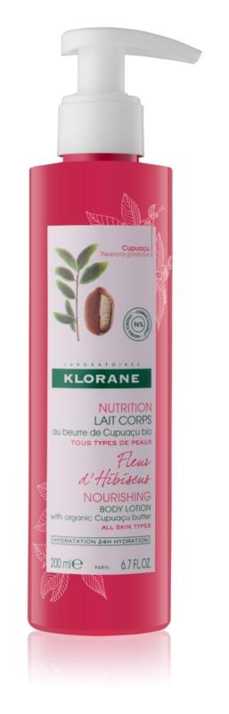 Klorane Cupuaçu Fleur d'Hibiscus поживне молочко для тіла