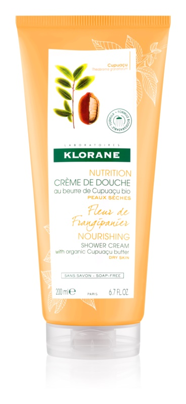 Klorane Cupuaçu Fleur de Frangipanier інтенсивно зволожувальний крем для душу
