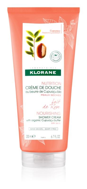 Klorane Cupuaçu Lait de Rose cremă de duș intens hidratantă