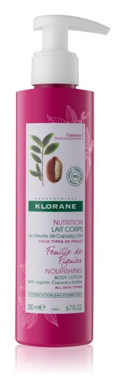 Klorane Cupuaçu Feuille de Figuier lotiune de corp hranitoare