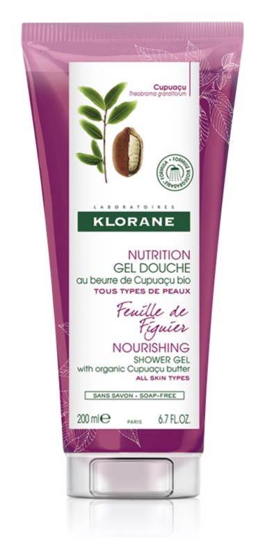 Klorane Cupuaçu Feuille de Figuier Nourishing Shower Gel