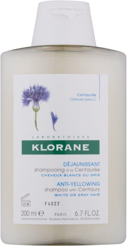 Klorane Centaurée champú para cabello rubio y canoso