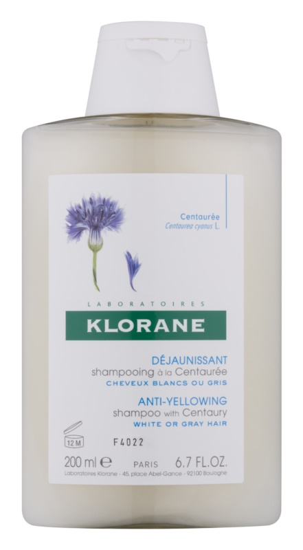 Klorane Centaurée Shampoo For Blonde And Gray Hair