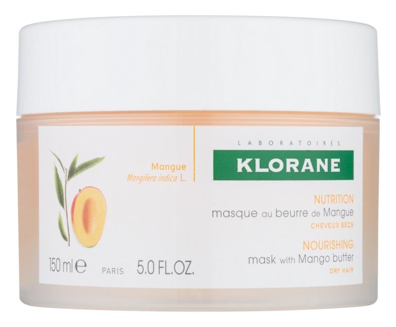 Klorane Mango mascarilla nutritiva para cabello seco y dañado