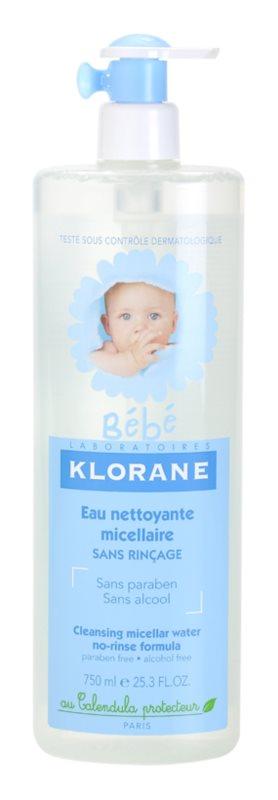 Klorane Bébé água micelar de limpeza para crianças