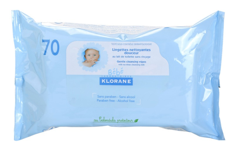 Klorane Bébé chusteczki pielęgnacyjne dla dzieci