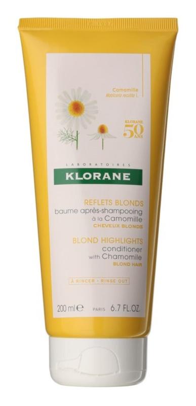 Klorane Chamomile odżywka rozjaśniająca do włosów blond