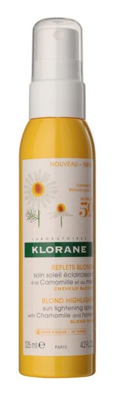 Klorane Chamomile  tratamento sem enxaguar  para iluminar e realçar a cor do cabelo loiro