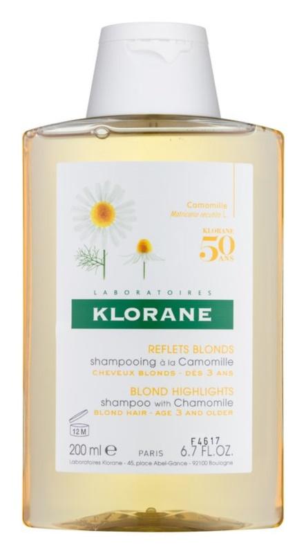 Klorane Chamomile sampon pentru par blond