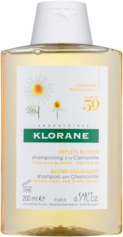 Klorane Chamomile sampon szőke hajra