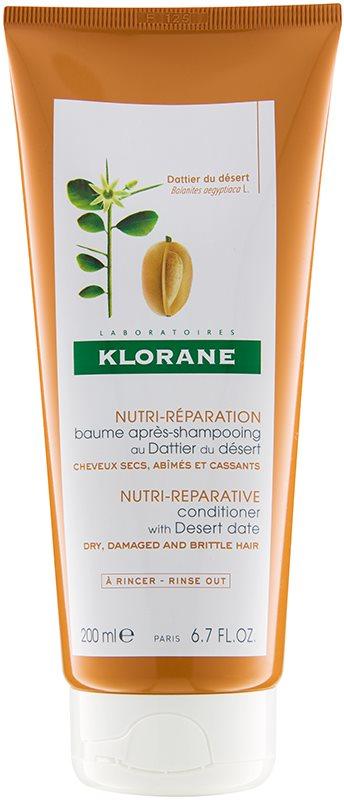 Klorane Desert Date condicionador para cabelo cansado e quebrado