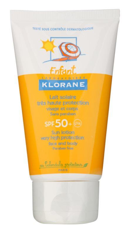 Klorane Kids leite protetor para rosto e corpo SPF 50+