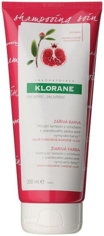 Klorane Pomegranate ápoló hajszínvédő sampon nagyon sérült festett hajra