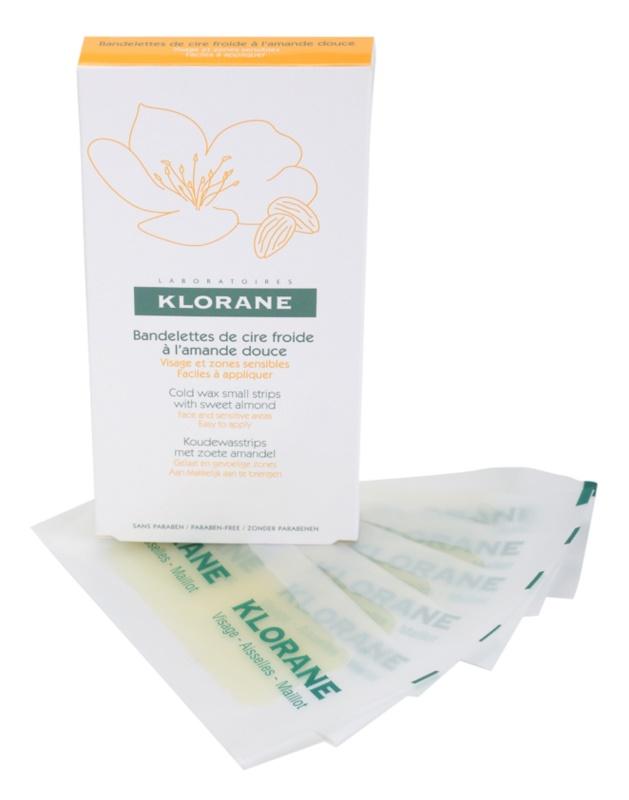 Klorane Hygiene et Soins du Corps voskové depilačné pásiky na tvár a citlivé miesta