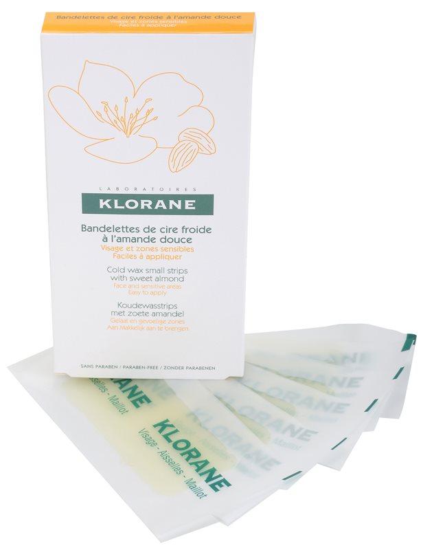 Klorane Hygiene et Soins du Corps воскові смужки для депіляції для обличчя та чутливих місць