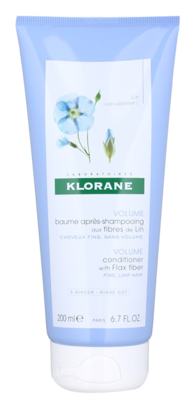 Klorane Flax Fiber condicionador para cabelo fino e sem volume