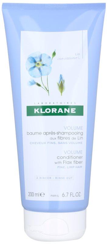Klorane Flax Fiber odżywka do włosów cienkich i delikatnych