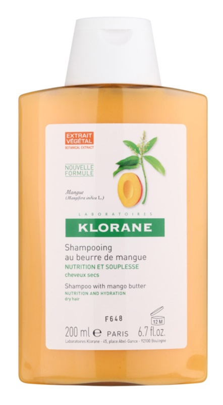 Klorane Mango shampoo nutriente per capelli secchi