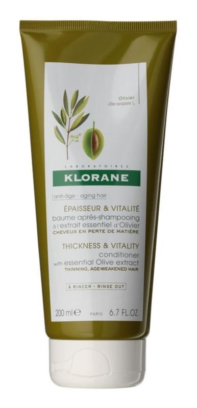 Klorane Olive Extract krepilni balzam za zrele lase