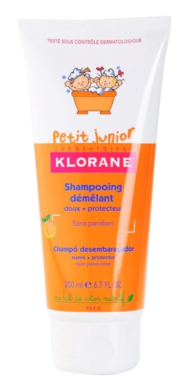 Klorane Junior shampoo per bambini con aroma di pesca