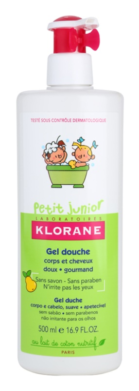 Klorane Junior Shower Gel For Body And Hair With Aromas Of Pears