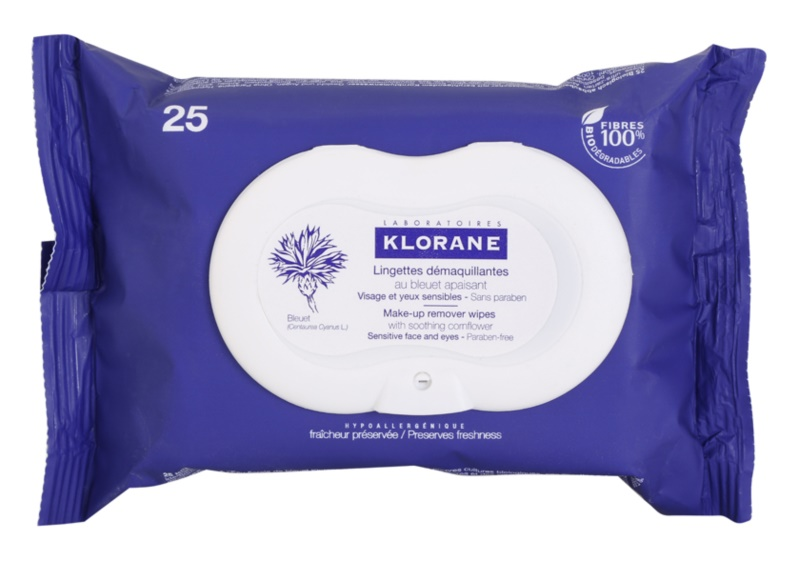 Klorane Cornflower Cleansing Wipes