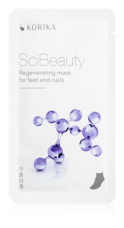 KORIKA SciBeauty regenererende sheet mask voor voeten en nagels