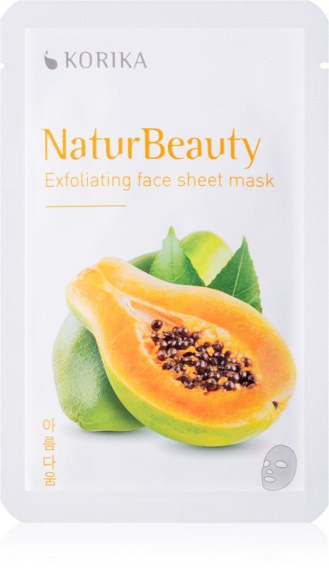 KORIKA NaturBeauty exfoliačná plátienková maska