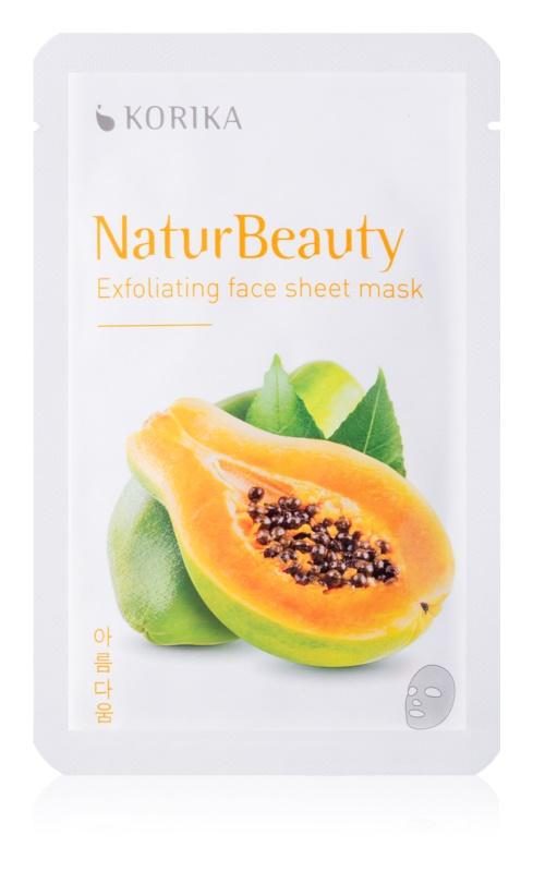 KORIKA NaturBeauty exfoliační plátýnková maska