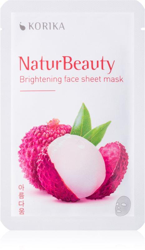 KORIKA NaturBeauty maska rozświetlająca w płacie