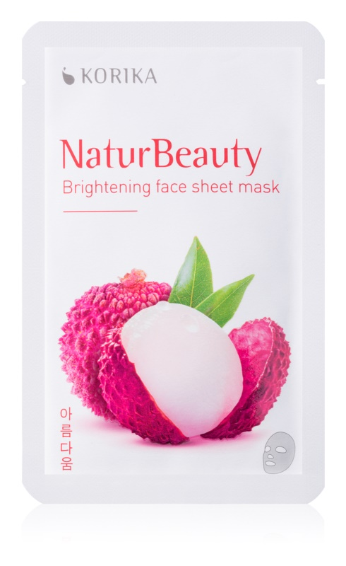 KORIKA NaturBeauty rozjasňující plátýnková maska