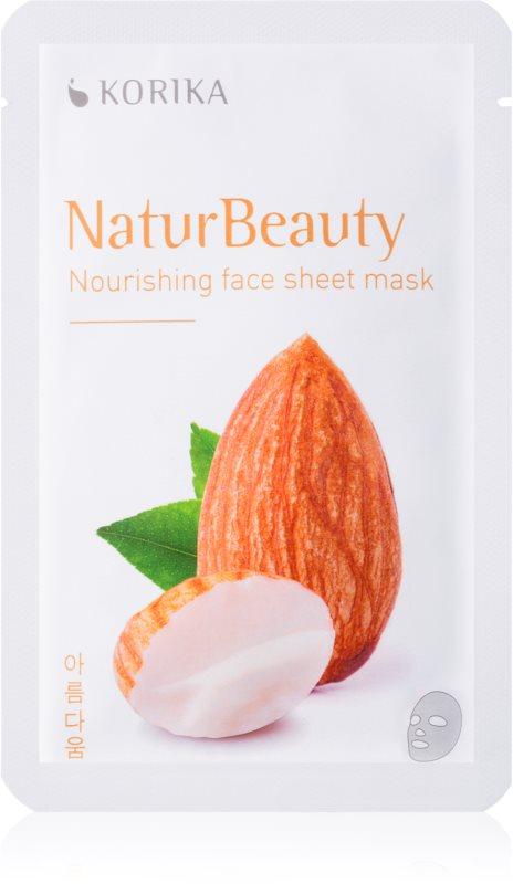 KORIKA NaturBeauty mascarilla nutriente en forma de hoja