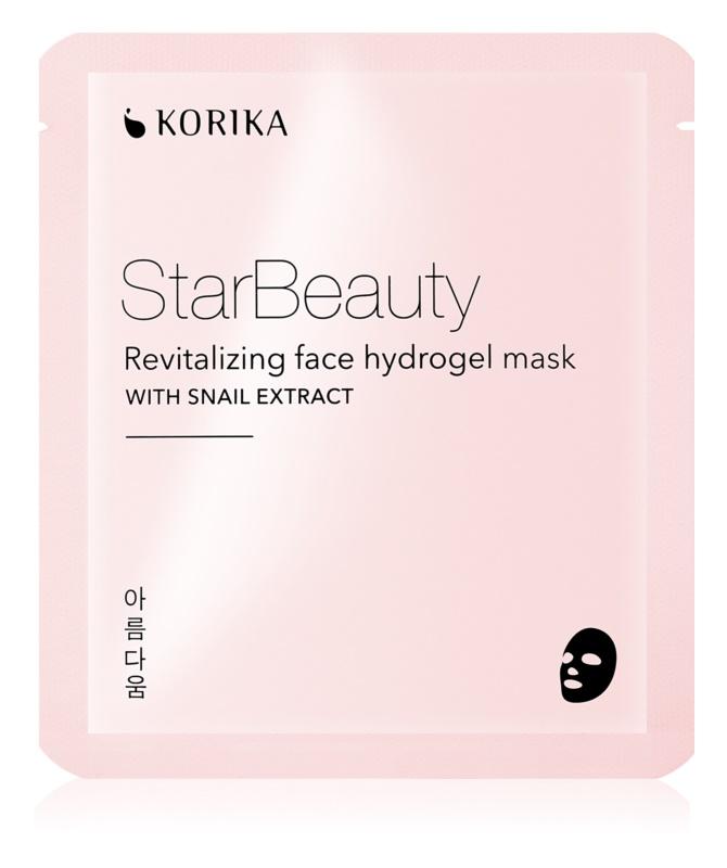 KORIKA StarBeauty masque hydrogel revitalisant à l'extrait de bave d'escargot