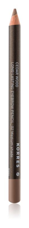 Korres Cedar Wood dlouhotrvající tužka na obočí